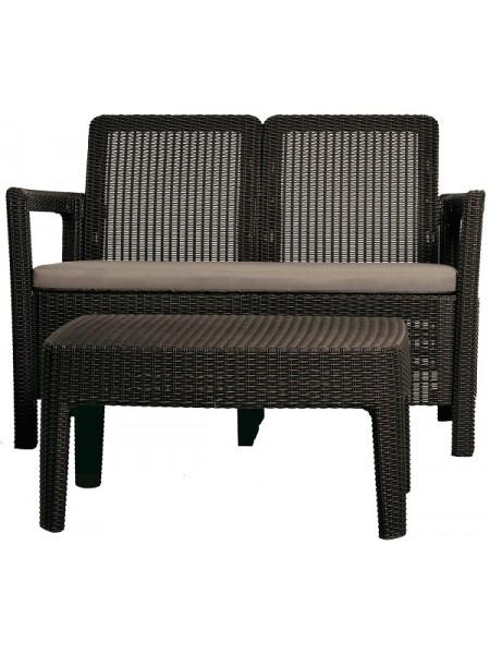 Набор мебели Tarifa lounge set коричневый