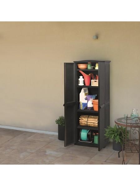 Ящик для хранения RATTAN STYLE-TALL SHED Compact Garden 430л