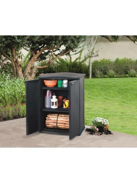 Ящик для хранения RATTAN STYLE-TALL SHED Compact Garden 230л