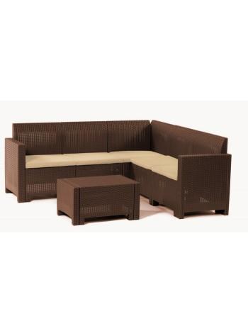 Комплект садовой мебели Bica Nebraska Corner коричневый