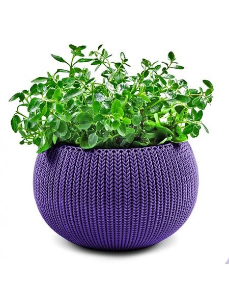 Горшок для растений COZIES M сиреневый в комплекте цепочка