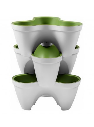 Горшок для растений IVY planter бело-зеленый
