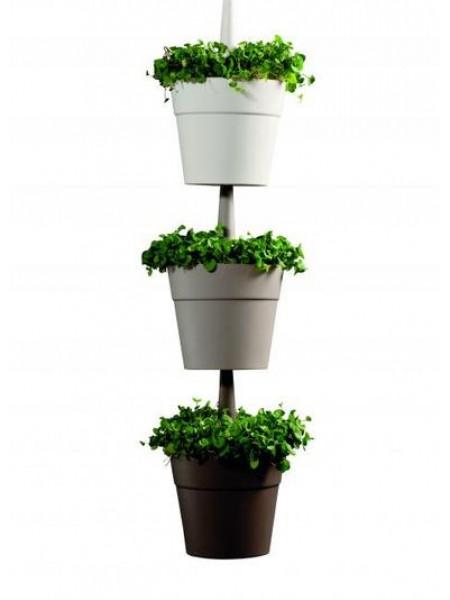 Горшок для растений Rainbow planter, комплект с 3-х шт, цвет: беж+серый+коричн