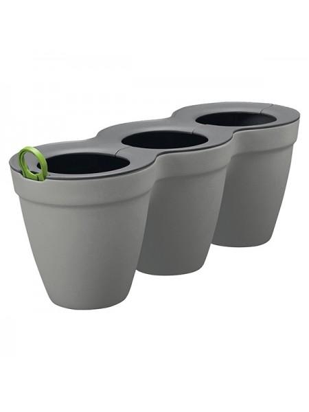 Горшок для растений Ivy Herbs цвет серый