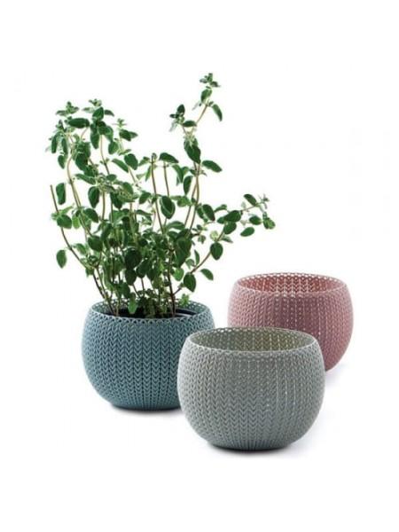 Горшок для растений COZIES Herb Pot, комплект из 3-х шт, цвет: сиреневый + голубой+ беж