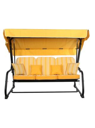 Садовые диван-качели Ost-Fran Aurora желтые