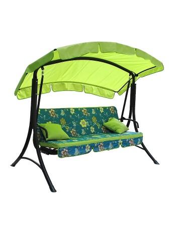 Садова диван-гойдалка Ost-Fran Bali зелена з бірюзовим