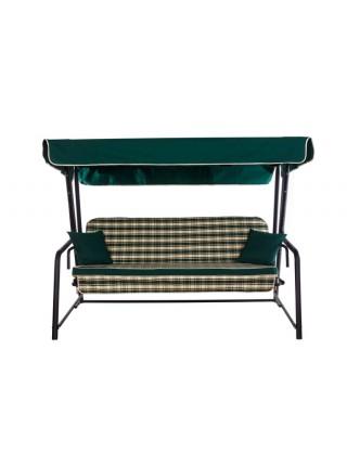 Садова диван-гойдалка Ost-Fran Seattle зелено-біла