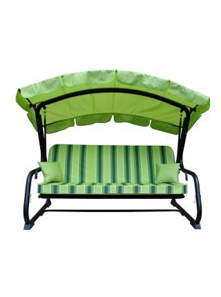 Садовые диван-качели Ost-Fran Tripoli зеленый с салатовым