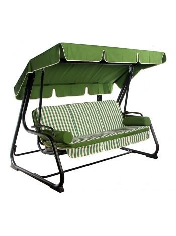 Садовые диван-качели Ost-Fran King зелёные полоски