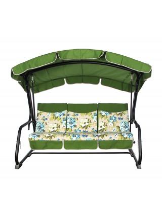 Садовые диван-качели Ost-Fran Barcelona бежево-зелёная