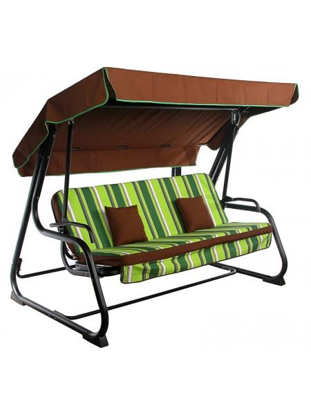 Садовые диван-качели Ost-Fran Virginia зеленый с коричневым