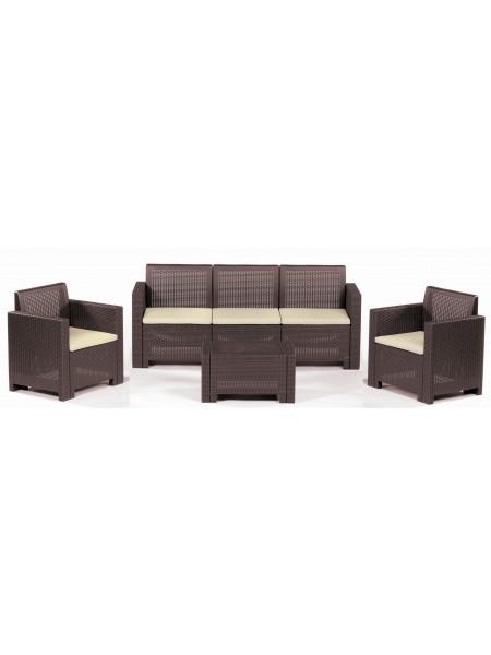 Комплект садовой мебели Bica Alabama 3 коричневый