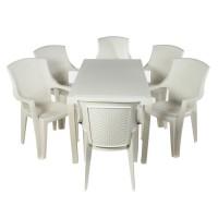 Комплект меблів Progarden Joker 6 крісел Eden білий