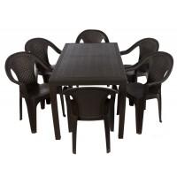 Комплект меблів Progarden Joker 6 крісел Ischia коричневий
