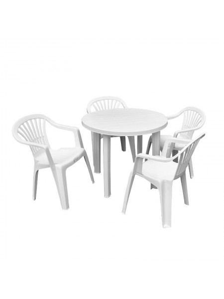 Набор Progarden Tondo 4 кресла Ole белый