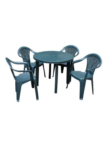 Набор Progarden Tondo 4 кресла Ole зеленый