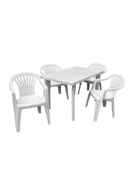 Набор Progarden Velo 4 кресла Ole белый