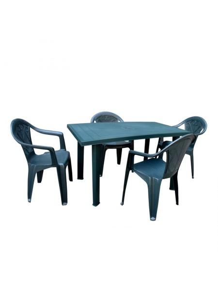 Набор Progarden Velo 4 кресла Ole зеленый