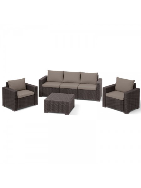 Набір меблів Allibert California 3 seater коричневий