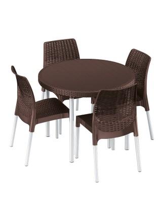 Набір меблів Keter Jersey set коричневий