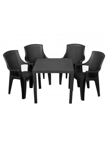 Комплект мебели Progarden King 4 кресла Eden антрацит