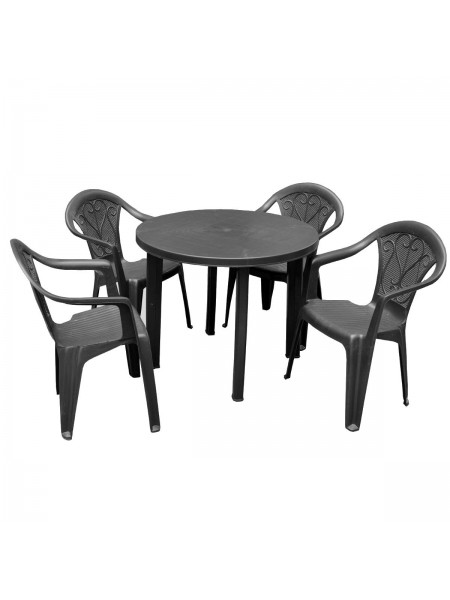 Набор Progarden Tondo 4 кресла Ole антрацит