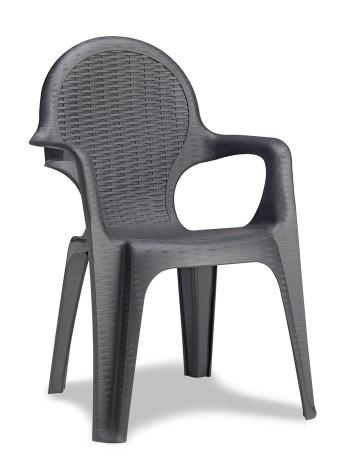 Кресло Progarden Intrecciata антрацит