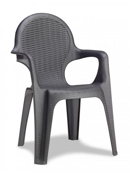 Крісло Progarden Intrecciata антрацит