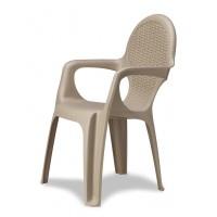 Кресло Progarden Intrecciata серо-бежевый