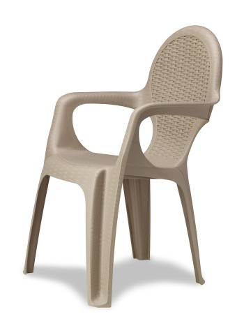 Крісло Progarden Intrecciata сіро-бежевий