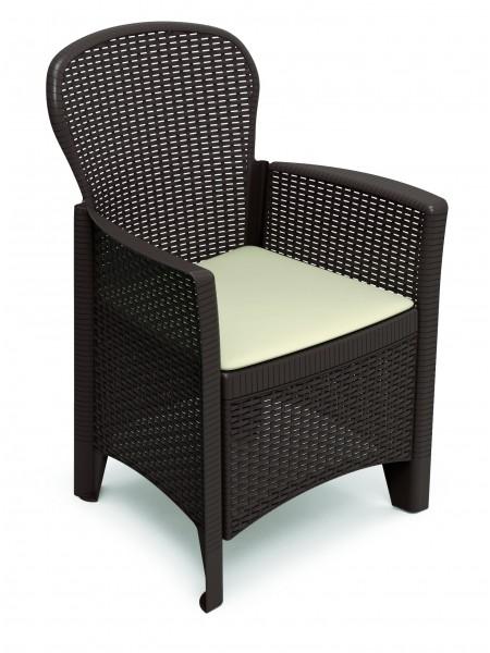 Кресло Progarden Folia коричневый
