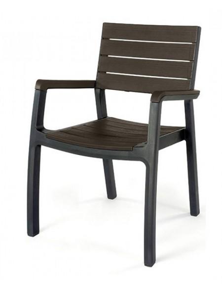 Стілець Keter Harmony armchair сірий з коричневим