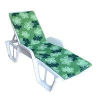 Матрас Sun зелёный в черно-белые цветы