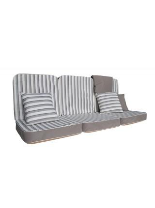 Мягкий комплект к качелям Ost-Fran Aurora teksilk серый