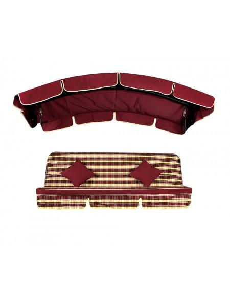 Мягкий комплект к качелям Ost-Fran Deli бордовый