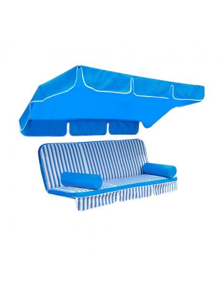 Мягкий комплект к качелям Ost-Fran King teksilk голубой