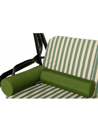 М'який комплект до гойдалки Ost-Fran King teksilk бежево-зелені смужки