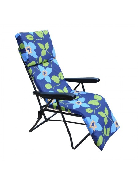Шезлонг Ost-Fran Strip синий с голубыми цветами