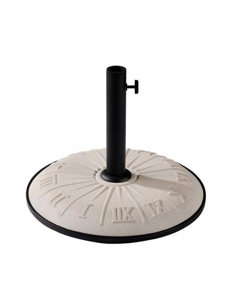Підставка для парасолі бетон TE-G1-15, 15 кг біла дизайн Годинник